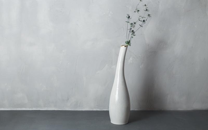 керамическая ваза в интерьер ручной работы
