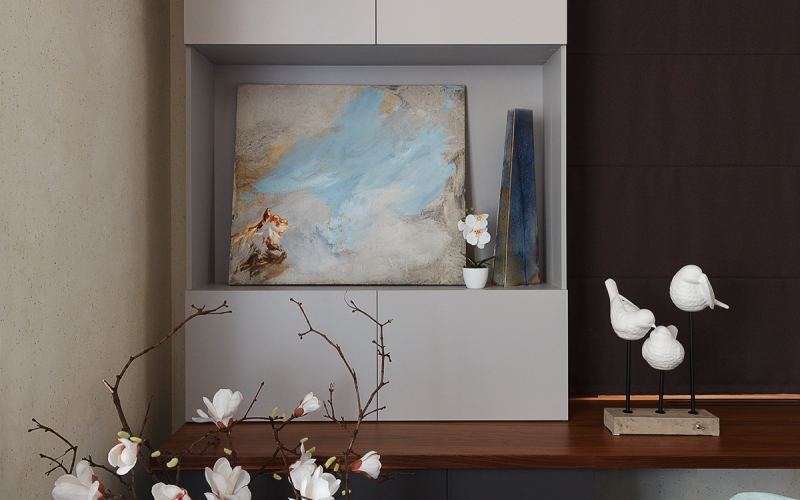 интерьер гостиной керамика ручной работы