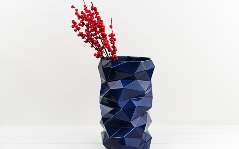 керамическая ваза ручной работы на заказ для интерьера
