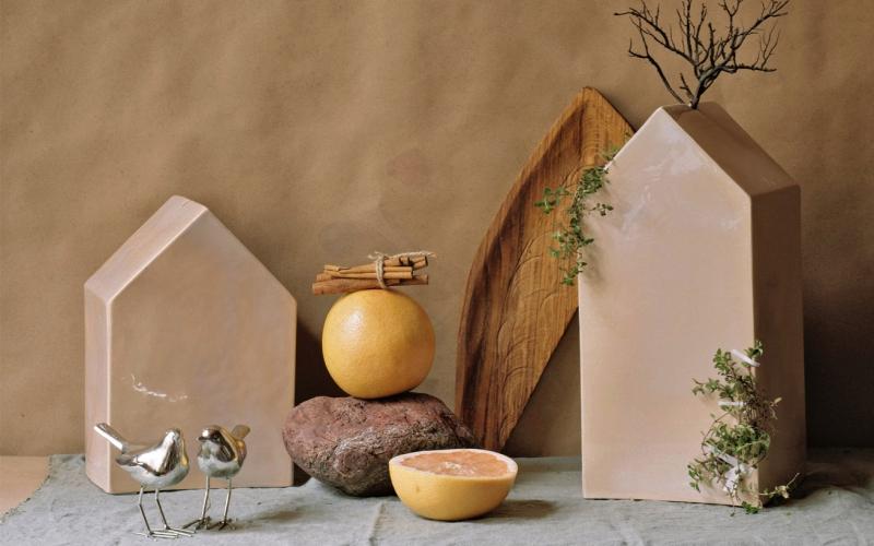 керамические плафоны домики