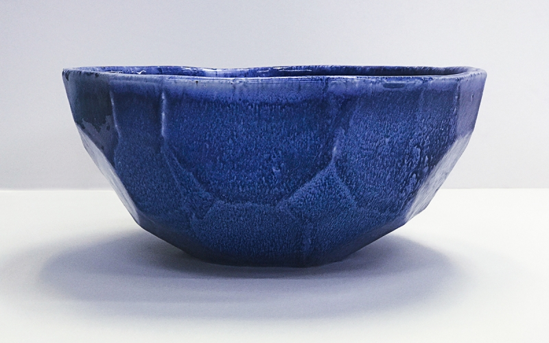 граненная керамическая раковина ручной работы