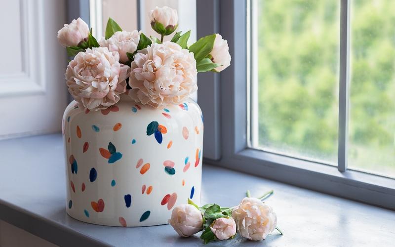 декор для дома ваза керамическая ручной работы