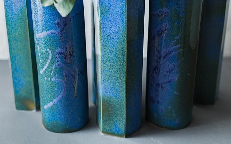 керамическая ваза декор интерьера