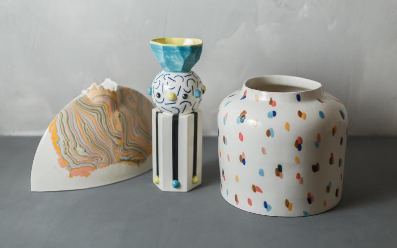 керамическая ваза декор интерьера ручной работы