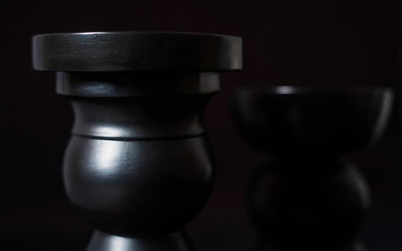 декор ручной работы керамический подсвечник
