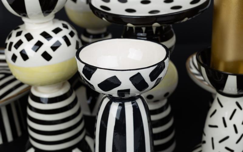 керамический подсвечник декор интерьера