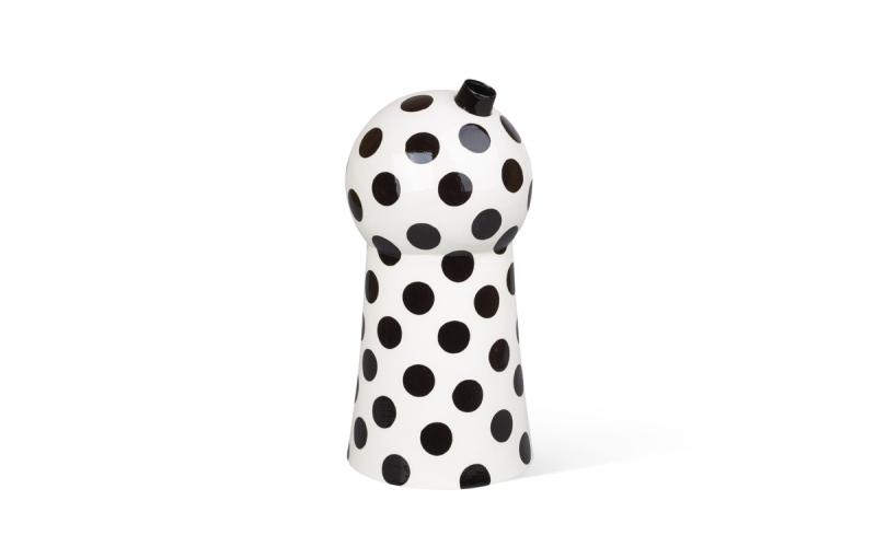 керамическая ваза с графичным принтом ручной работы