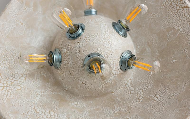 керамическая напольная лампа авторская керамика