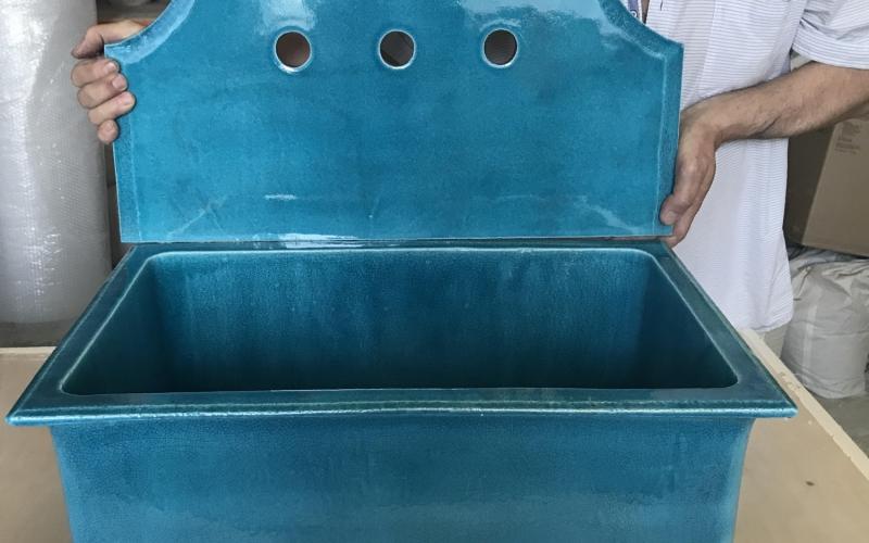 керамическая раковина на заказ ручной работы