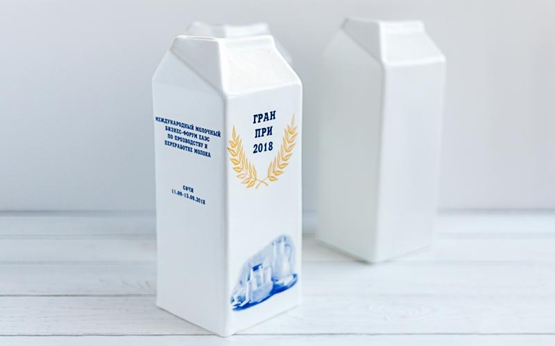 керамический кубок пакет молока на заказ