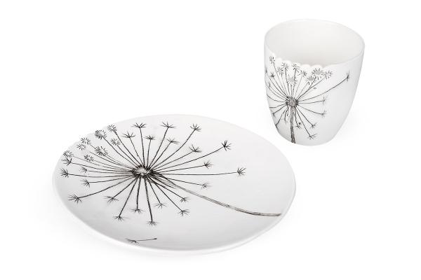 набор керамической посуды ручной работы одуванчик