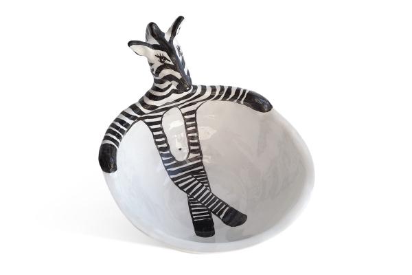 керамическая пиала на заказ с зеброй
