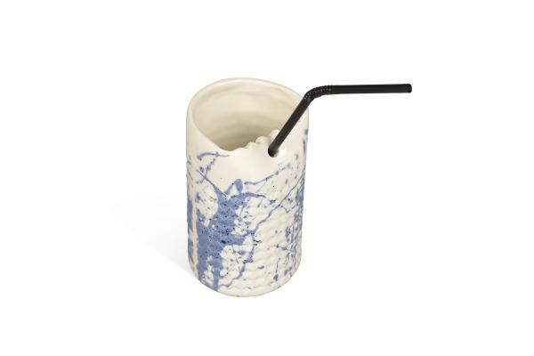 керамический стакан с трубочкой для ресторана
