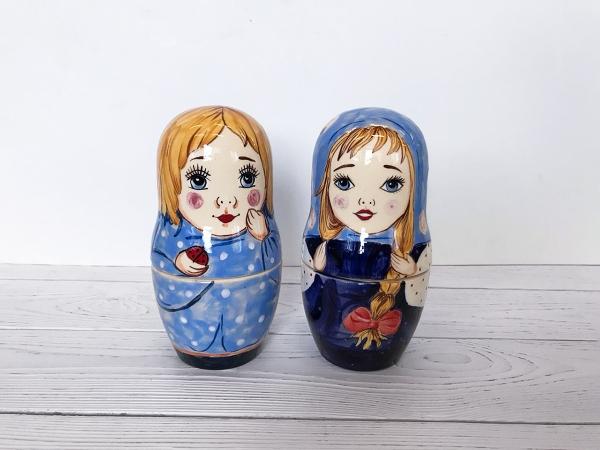 керамические матрешки на заказ с росписью