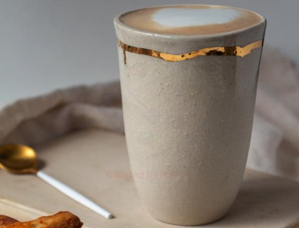 керамический стакан ручной работы
