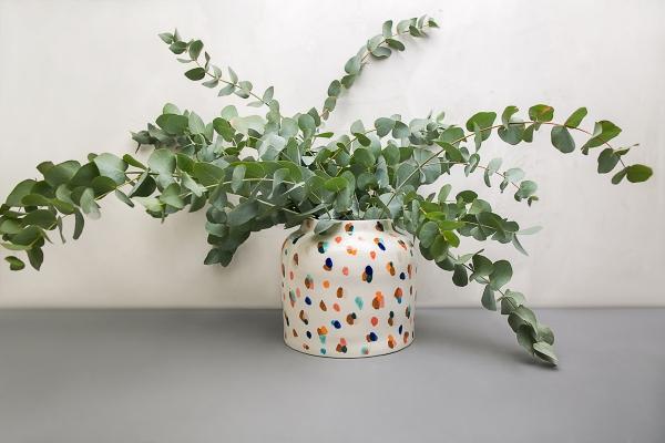 авторская керамика ручной работы большая ваза
