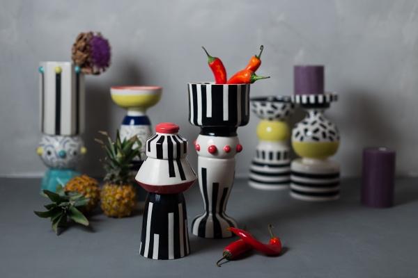 авторская керамика в стиле мемфис декор для дома