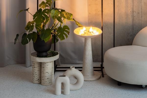 керамический столик и лампы авторская керамика