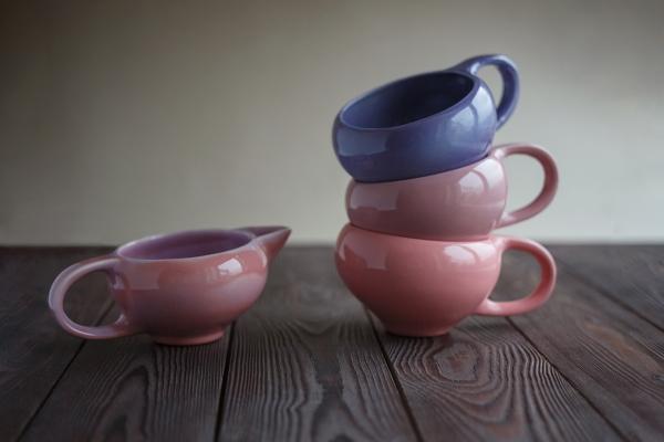 чайный сервиз из глины