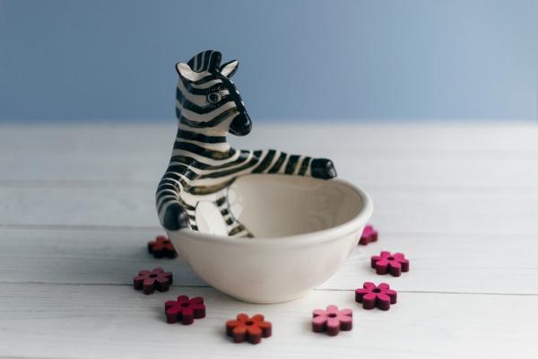 детская пиала зебра ручной работы